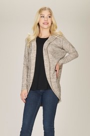 Papillon Open Beige Cardigan - Front cropped