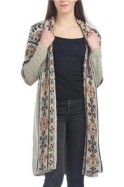Papillon Open Print Cardigan - Product Mini Image