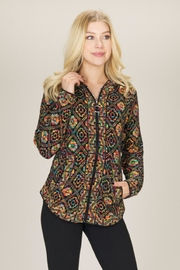 Papillon Print Zip Hoodie - Front cropped