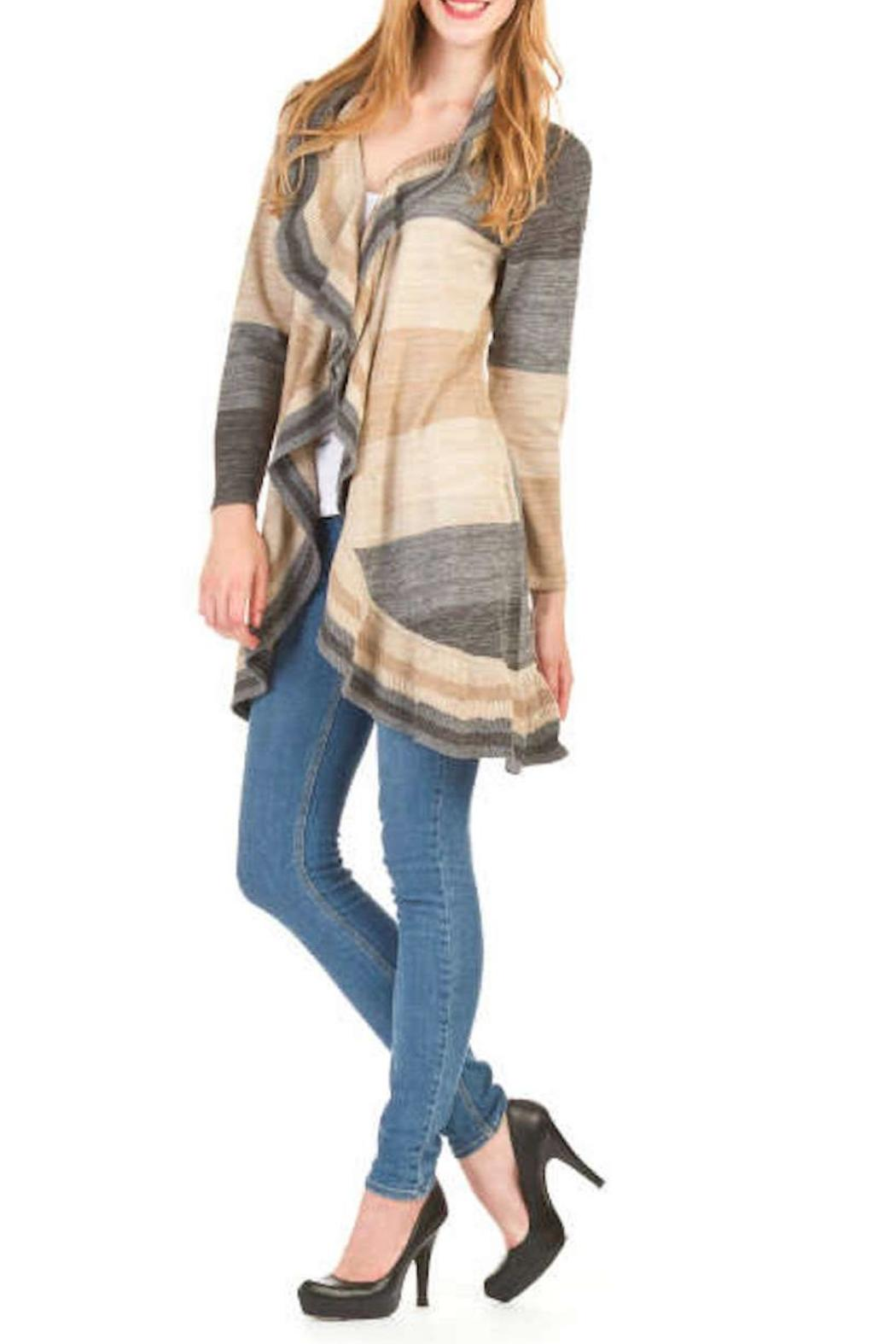 Papillon Ripple Stripe Cardigan - Front Cropped Image