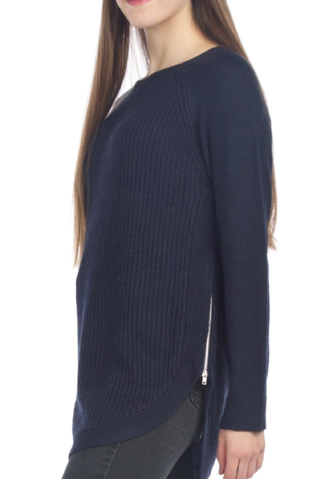 Papillon Side Zip Casual Pull Over - Main Image