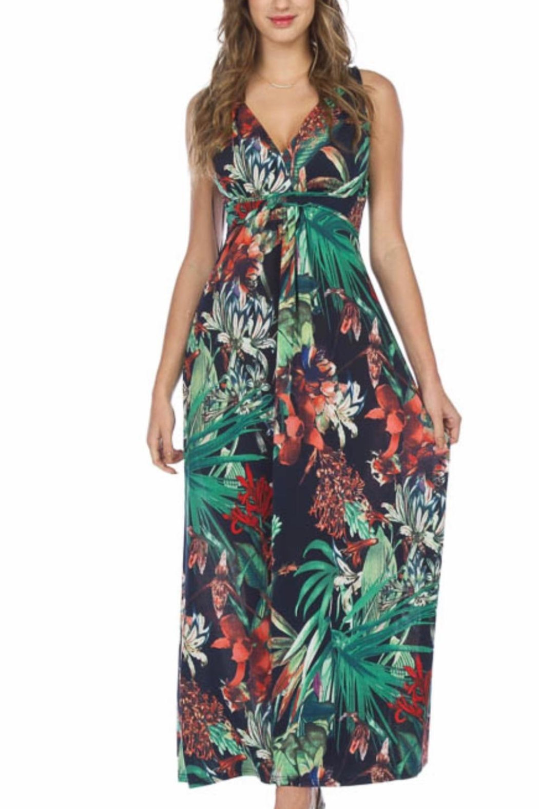 Papillon Tropical Maxi Dress - Main Image