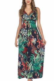 Papillon Tropical Maxi Dress - Front cropped