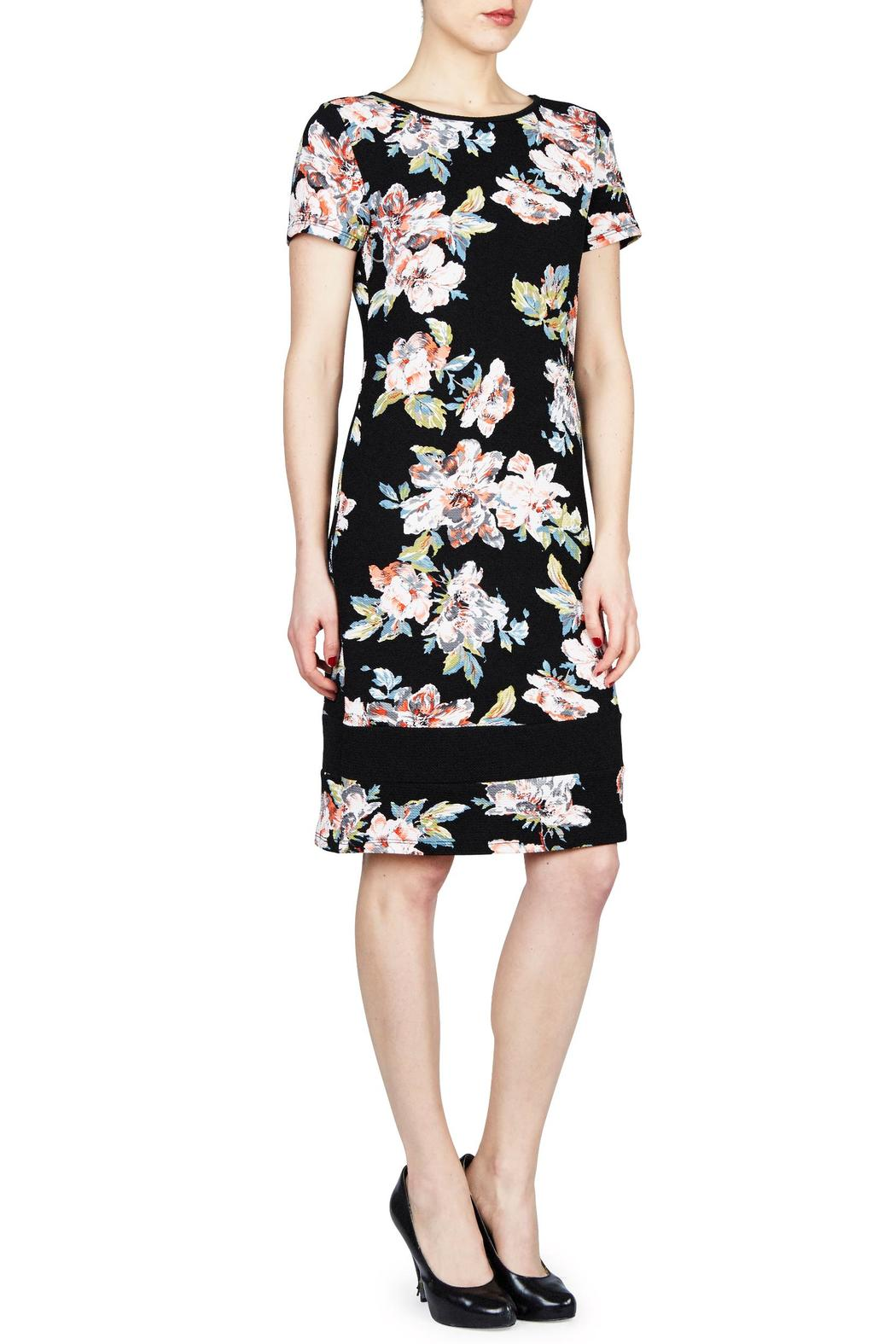 PAPILLON BLANC Floral Shift Dress - Front Cropped Image
