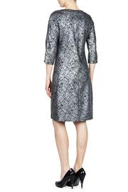 PAPILLON BLANC Floral Silver Shift - Front full body