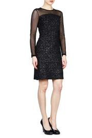 Shoptiques Product: Long-Sleeve Mesh Dress  - Front cropped