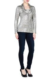 Shoptiques Product: Metallic Cowl Neck  - Front cropped
