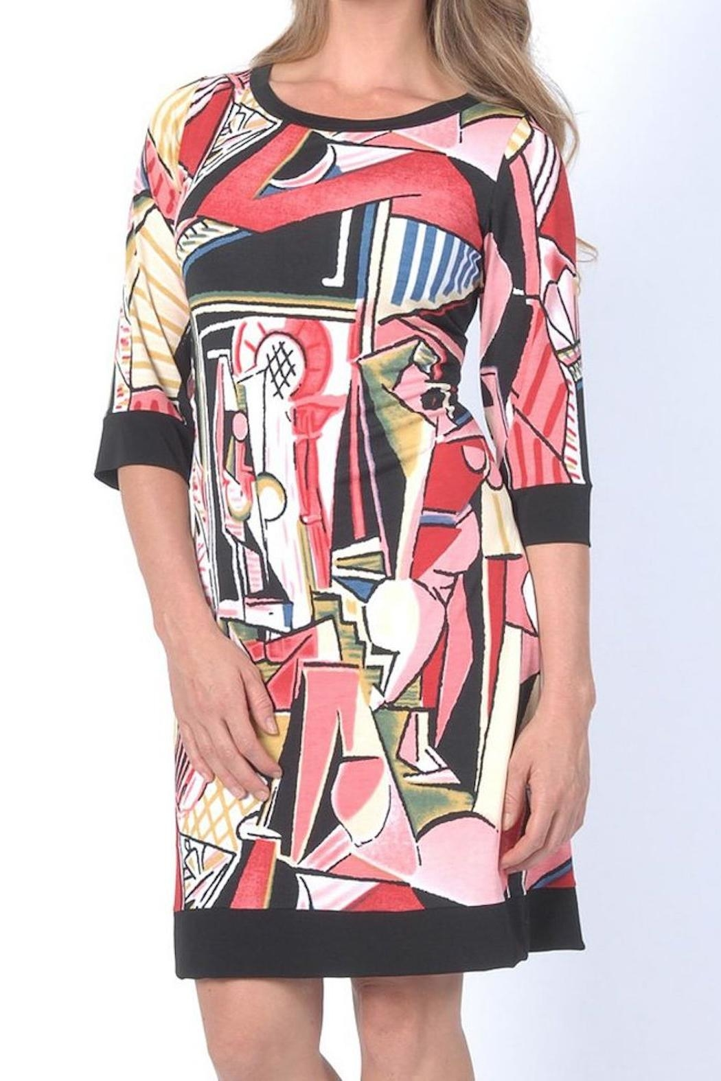 PAPILLON BLANC Picasso Shift Dress - Front Cropped Image