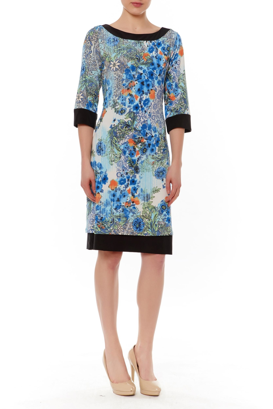 PAPILLON BLANC Reversible Shift Dress - Main Image