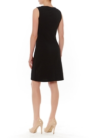 PAPILLON BLANC Black Sleeveless Shift Dress - Front full body