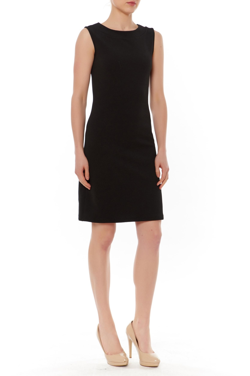PAPILLON BLANC Black Sleeveless Shift Dress - Main Image