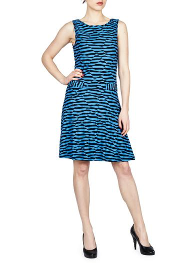 PAPILLON BLANC Striped Swing Dress - Main Image