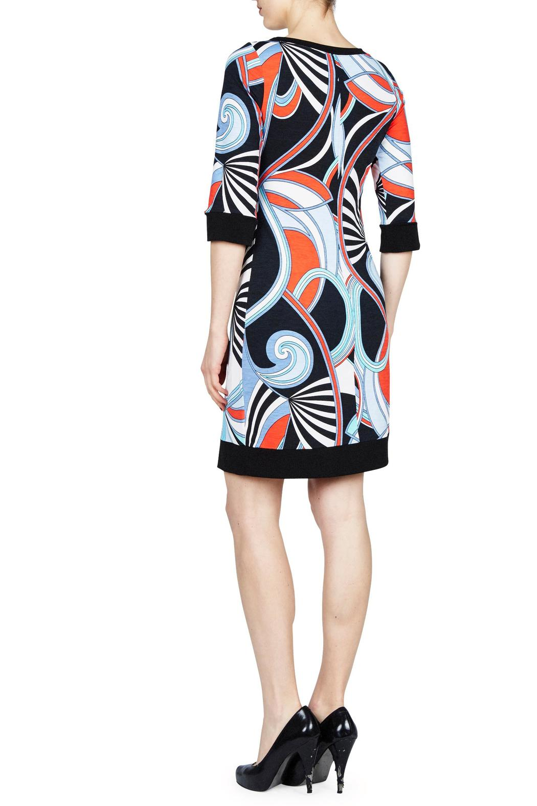 PAPILLON BLANC Swirl Shift Dress - Front Full Image