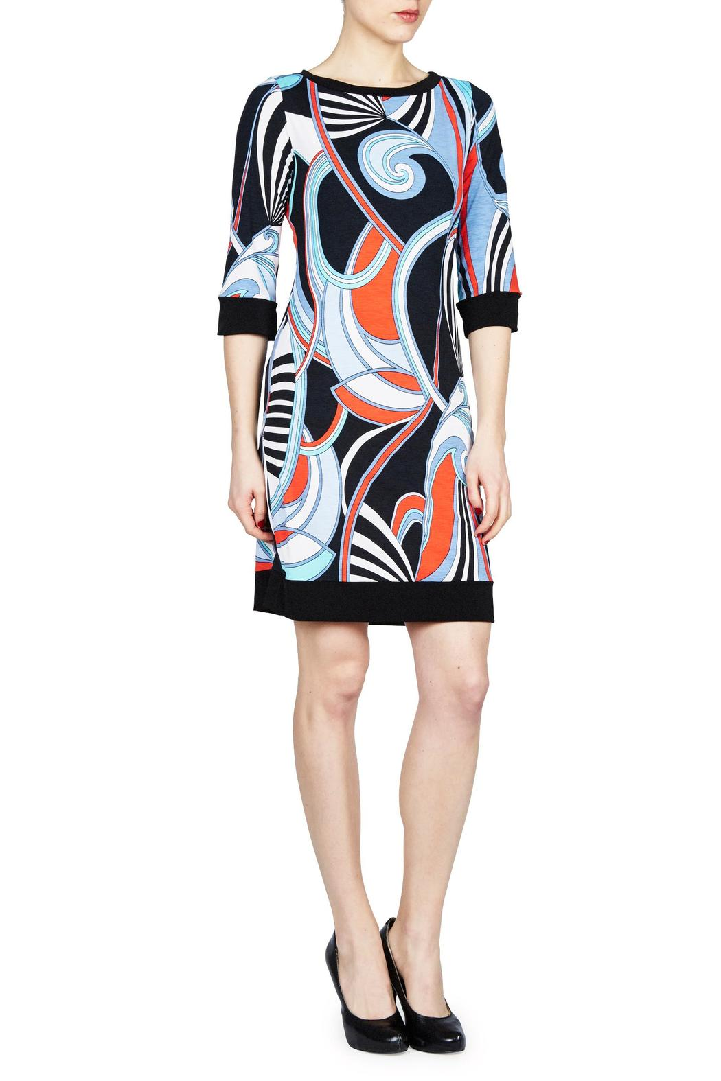 PAPILLON BLANC Swirl Shift Dress - Front Cropped Image
