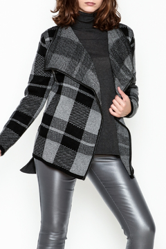 Papillonne Plaid Sweater Coat - Product List Image