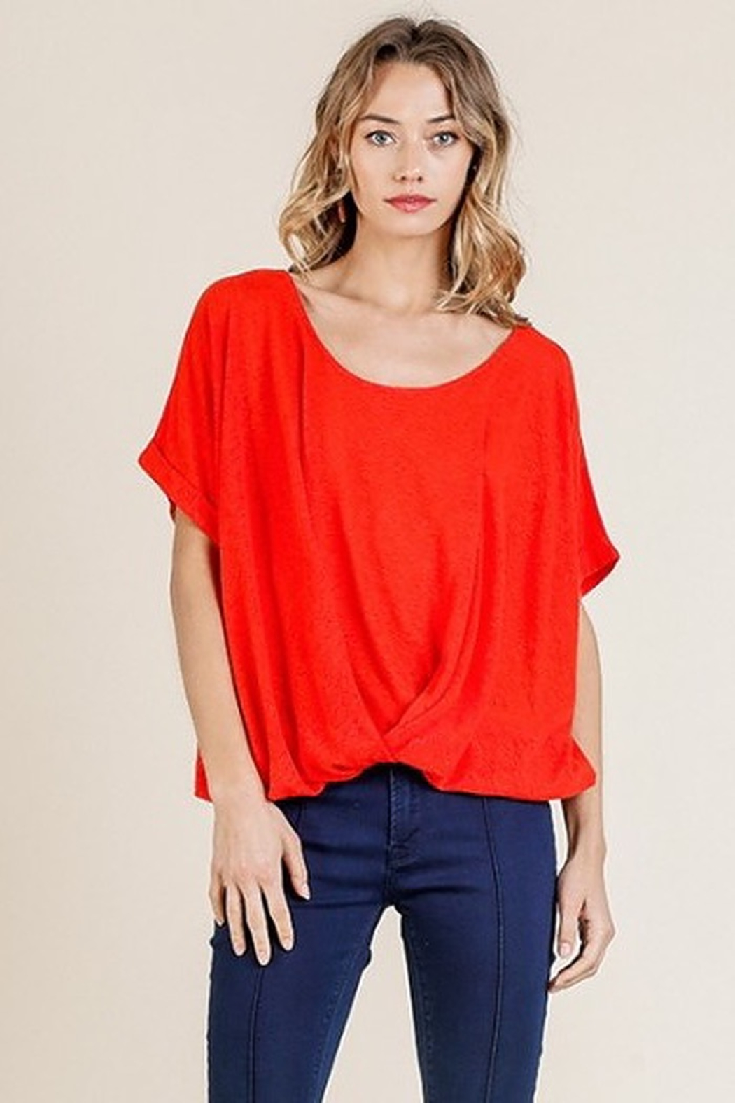 Umgee  Paprika Top - Front Cropped Image