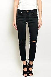 Para Black Cropped Denim - Product Mini Image