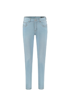 Shoptiques Product: Ice Blue Satin Jeans