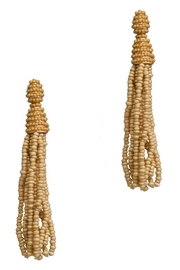 Para Ti Beaded Tan Tassels - Product Mini Image