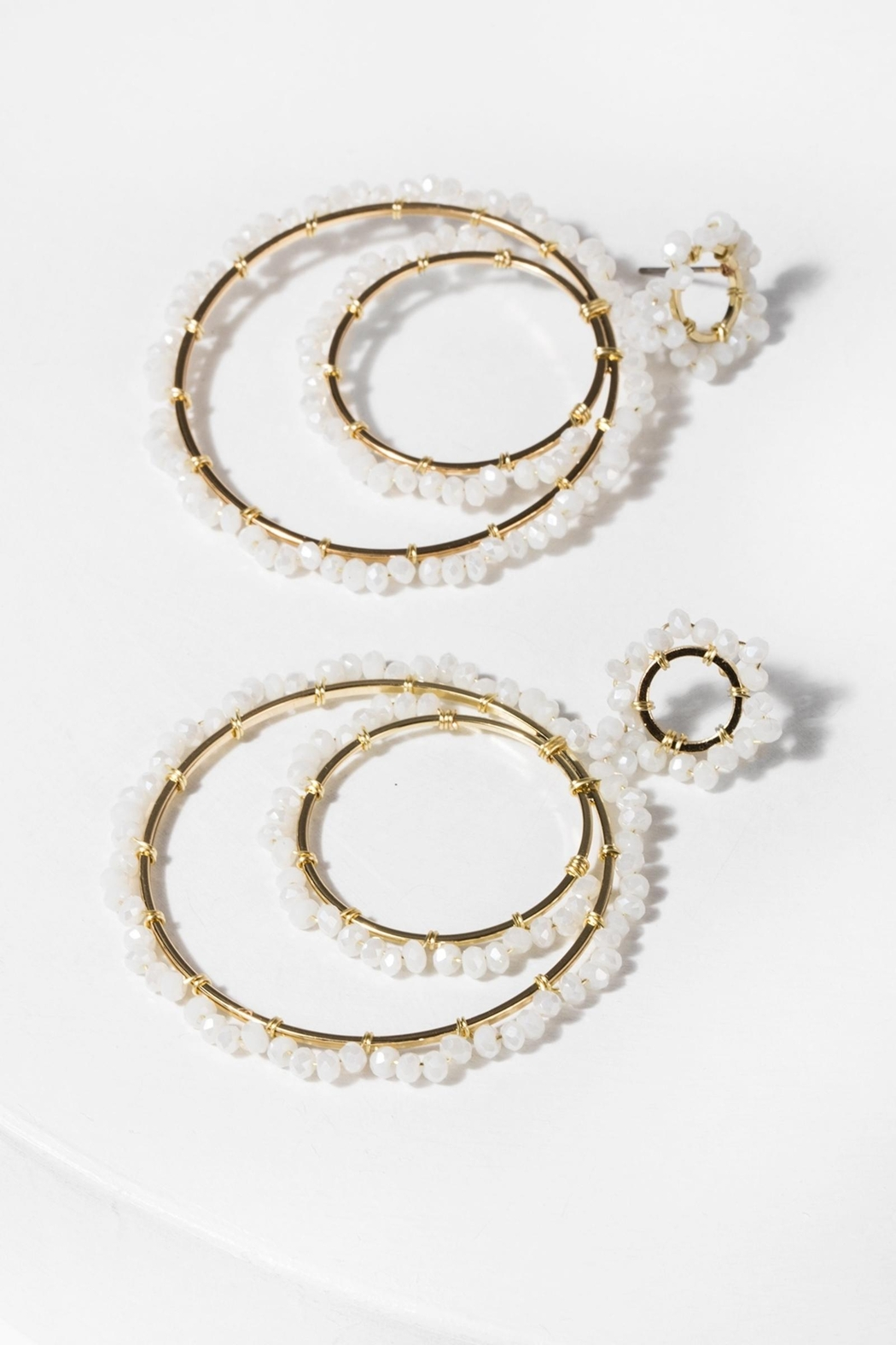 Saachi Paradise Hoop Earring - Front Cropped Image