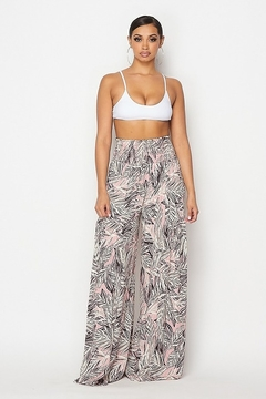 Hot & Delicious Paradise Leaf Palazzo Pants - Product List Image