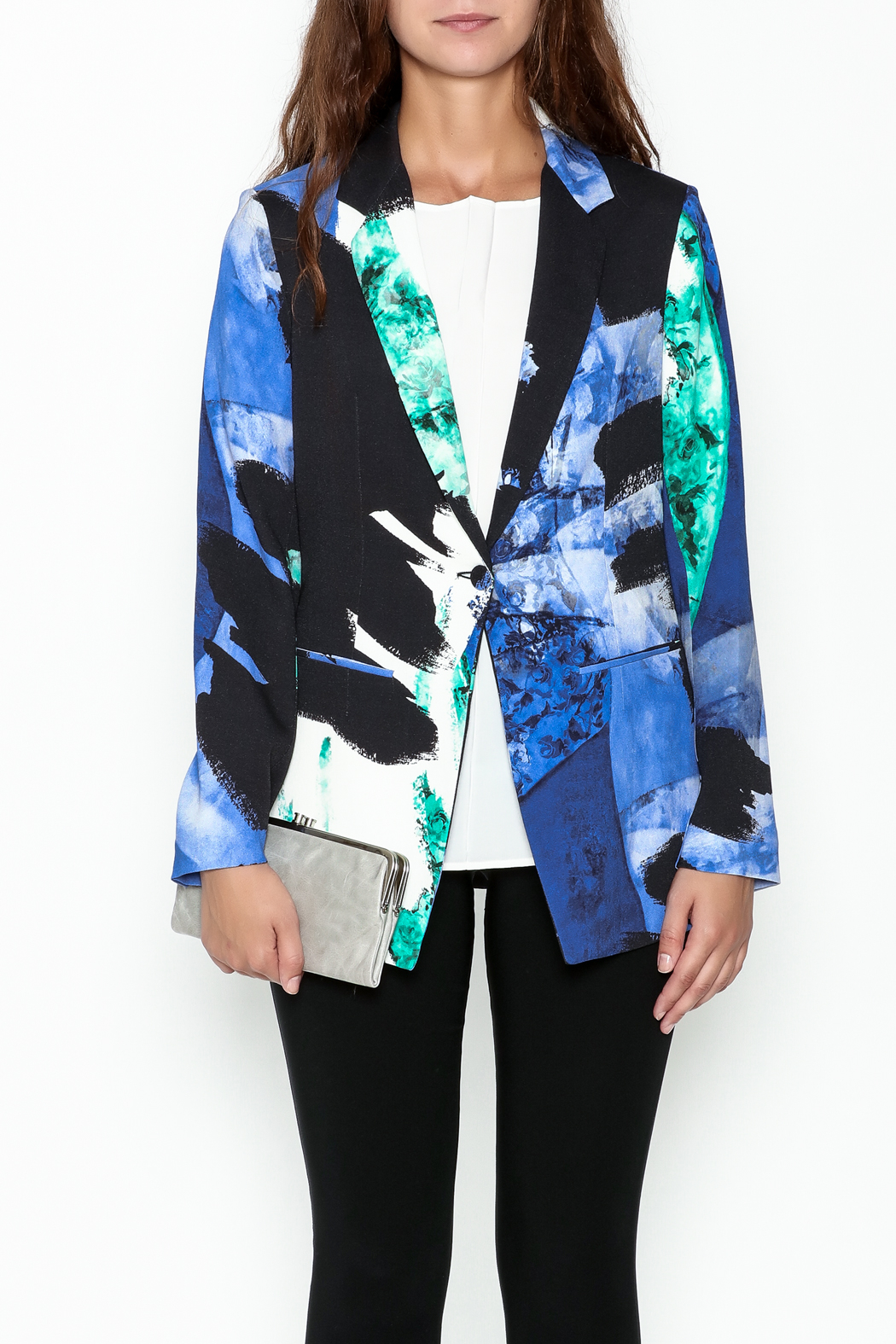 Parakian Abstract Print Blazer - Front Full Image