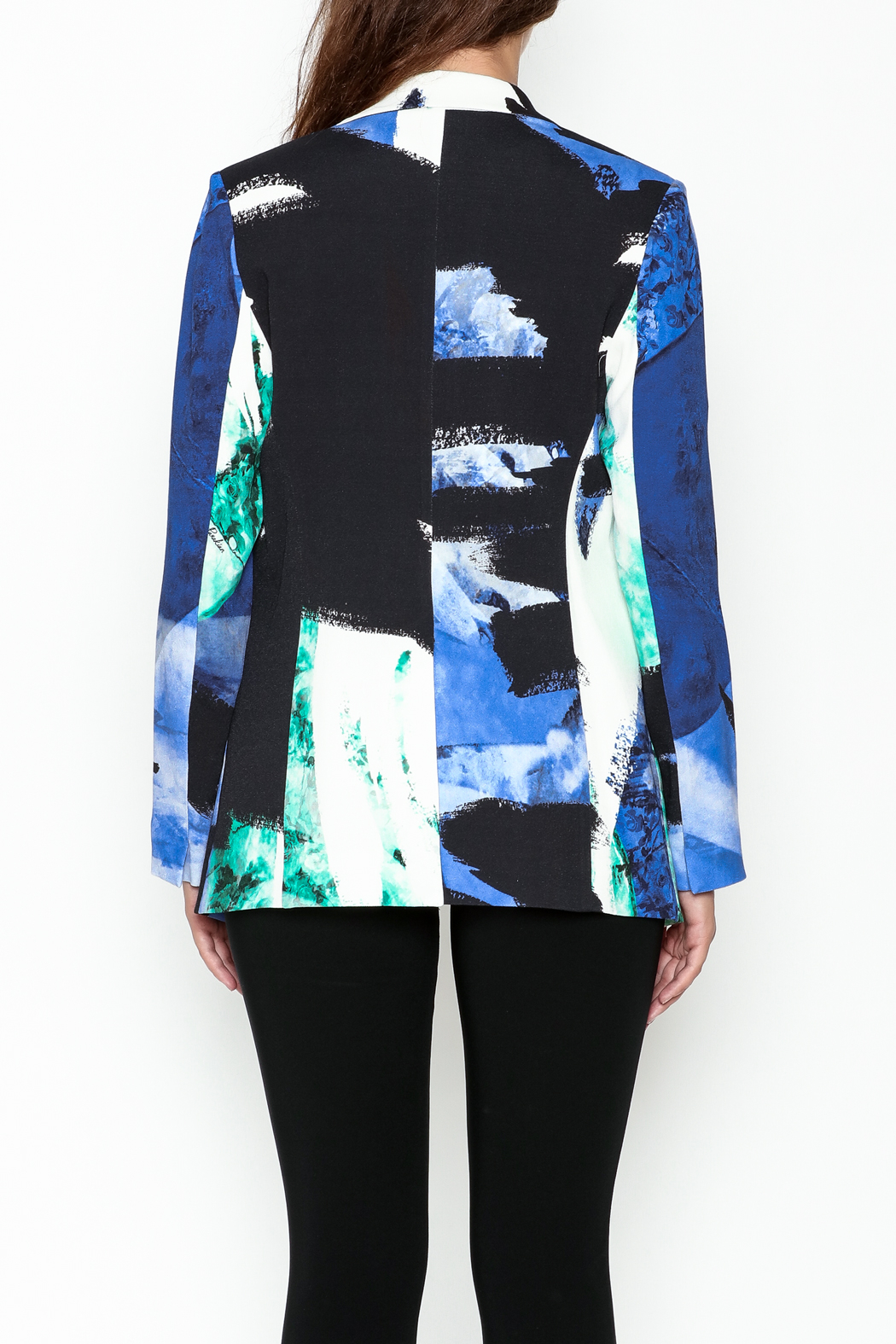 Parakian Abstract Print Blazer - Back Cropped Image