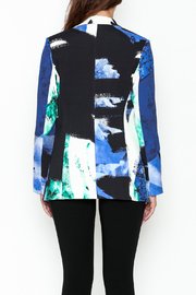 Parakian Abstract Print Blazer - Back cropped