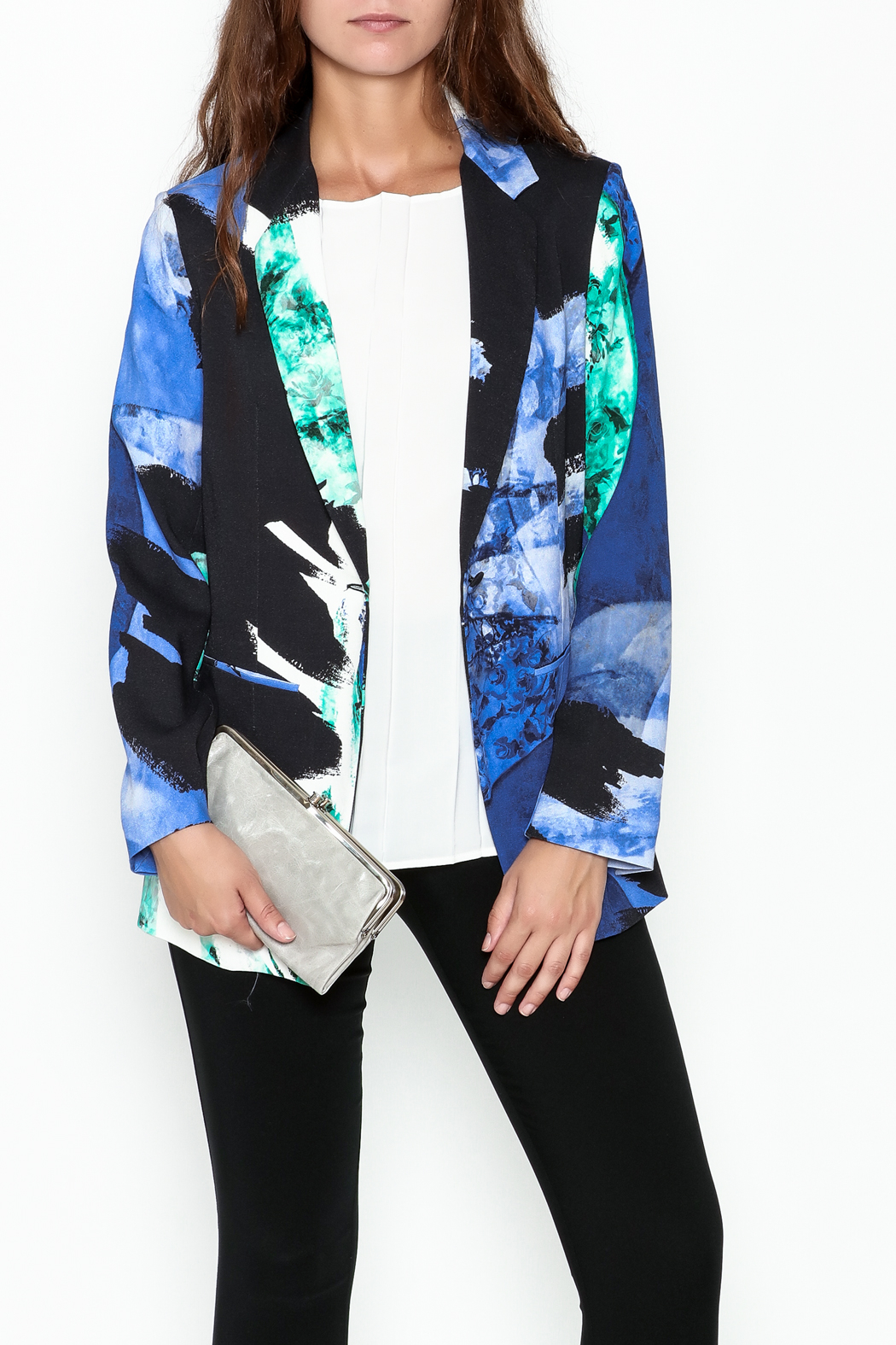 Parakian Abstract Print Blazer - Main Image
