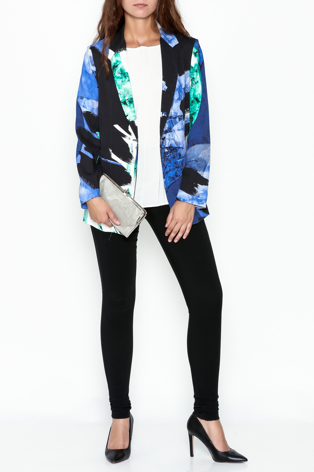 Parakian Abstract Print Blazer - Side Cropped Image