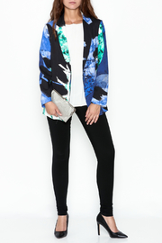 Parakian Abstract Print Blazer - Side cropped