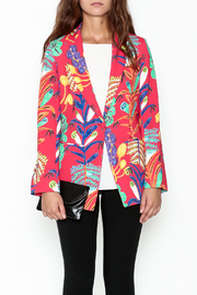 Parakian Red Print Blazer - Front full body