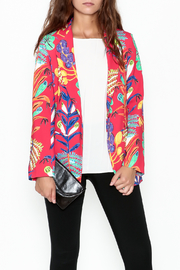 Parakian Red Print Blazer - Product Mini Image