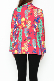 Parakian Red Print Blazer - Back cropped