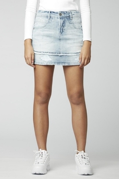 Parasuco Light Wash Double Hem Jean Skirt - Product List Image