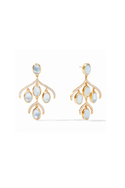 Julie Vos Paris Chandelier Earring Gold Iridescent Ice Blue - Product Mini Image