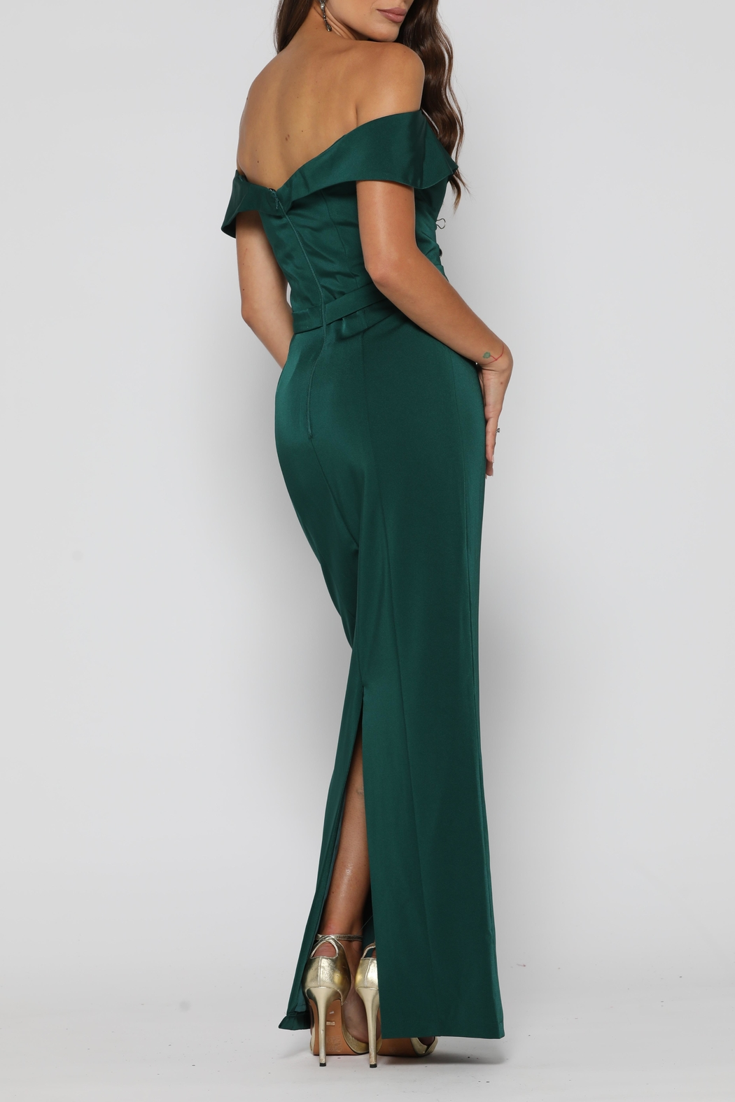 YSS the Label Paris Dress Emerald - Side Cropped Image