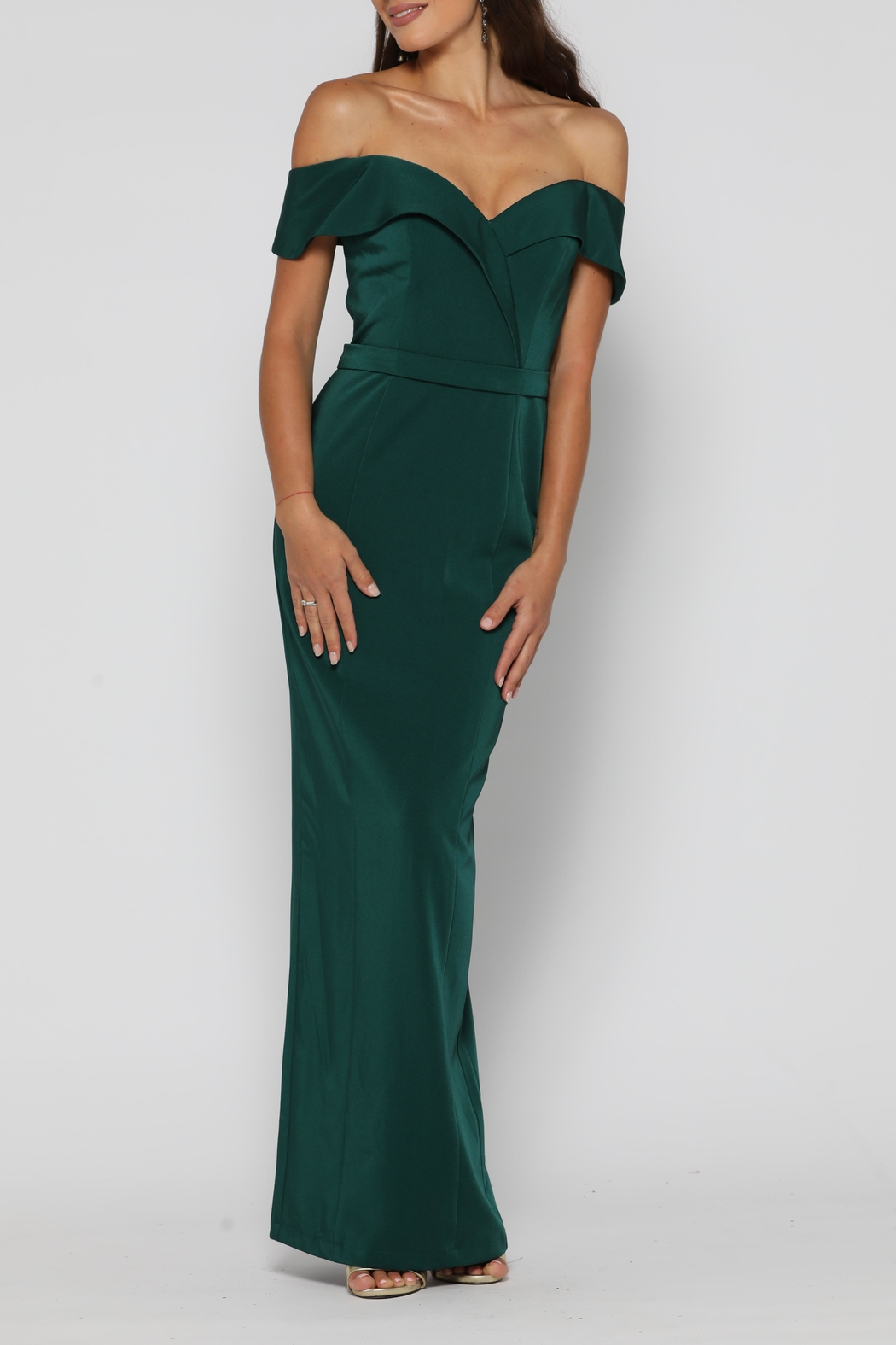 YSS the Label Paris Dress Emerald - Front Full Image