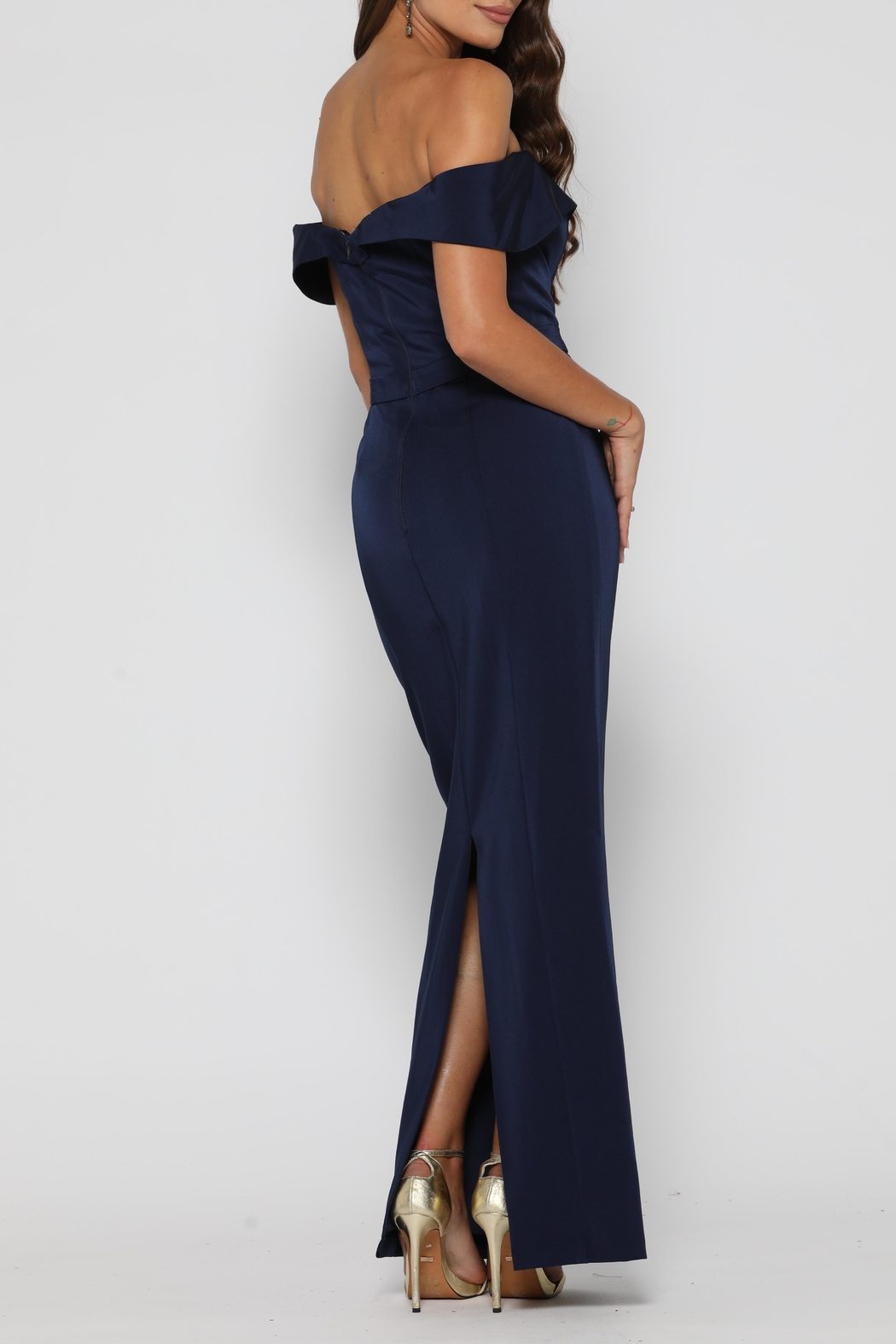 YSS the Label Paris Dress Navy - Side Cropped Image