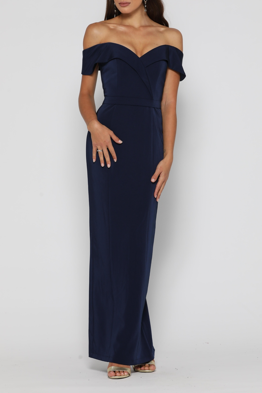 YSS the Label Paris Dress Navy - Front Full Image