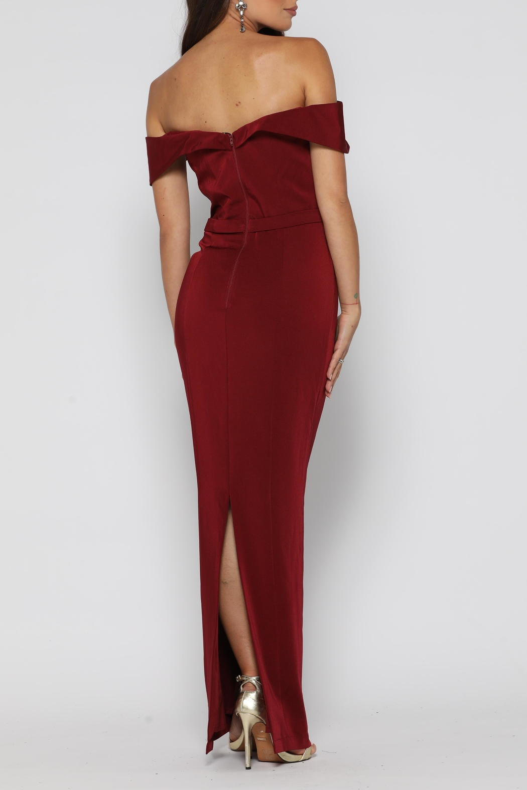 YSS the Label Paris Dress Wine - Side Cropped Image