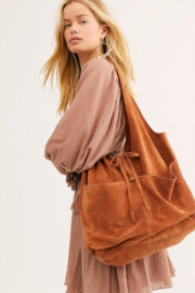 Free People Paris Suede Tote - Front cropped