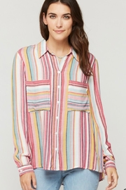 Velvet Heart Parisa Stripe Blouse - Product Mini Image