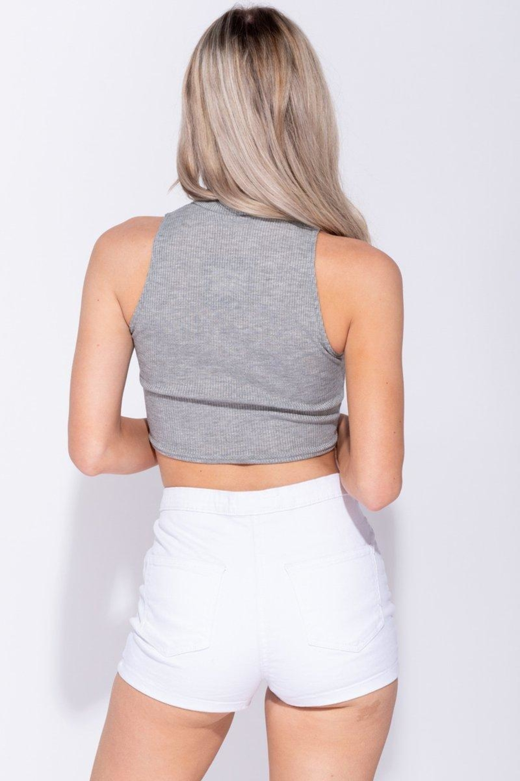 Parisian Crop Tank Top - Side Cropped Image
