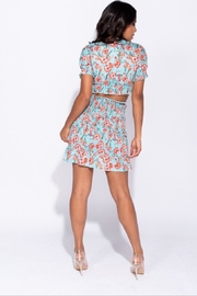Parisian Floral High Waisted Skirt - Front full body