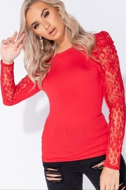 Parisian Top - Lace Sleeves - Product Mini Image