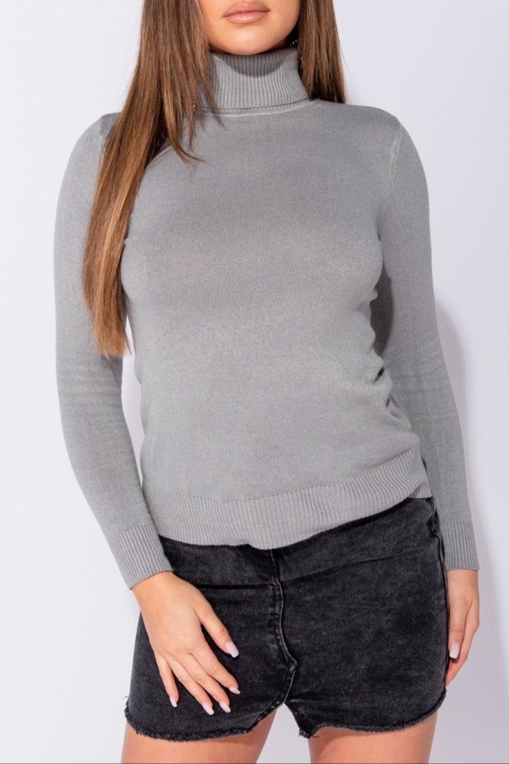 Parisian Turtle Neck Top - Side Cropped Image