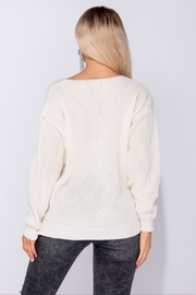 Parisian V-Neck Sweater - Side cropped