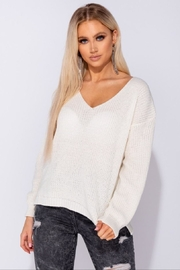 Parisian V-Neck Knit Sweater/jumper - Product Mini Image