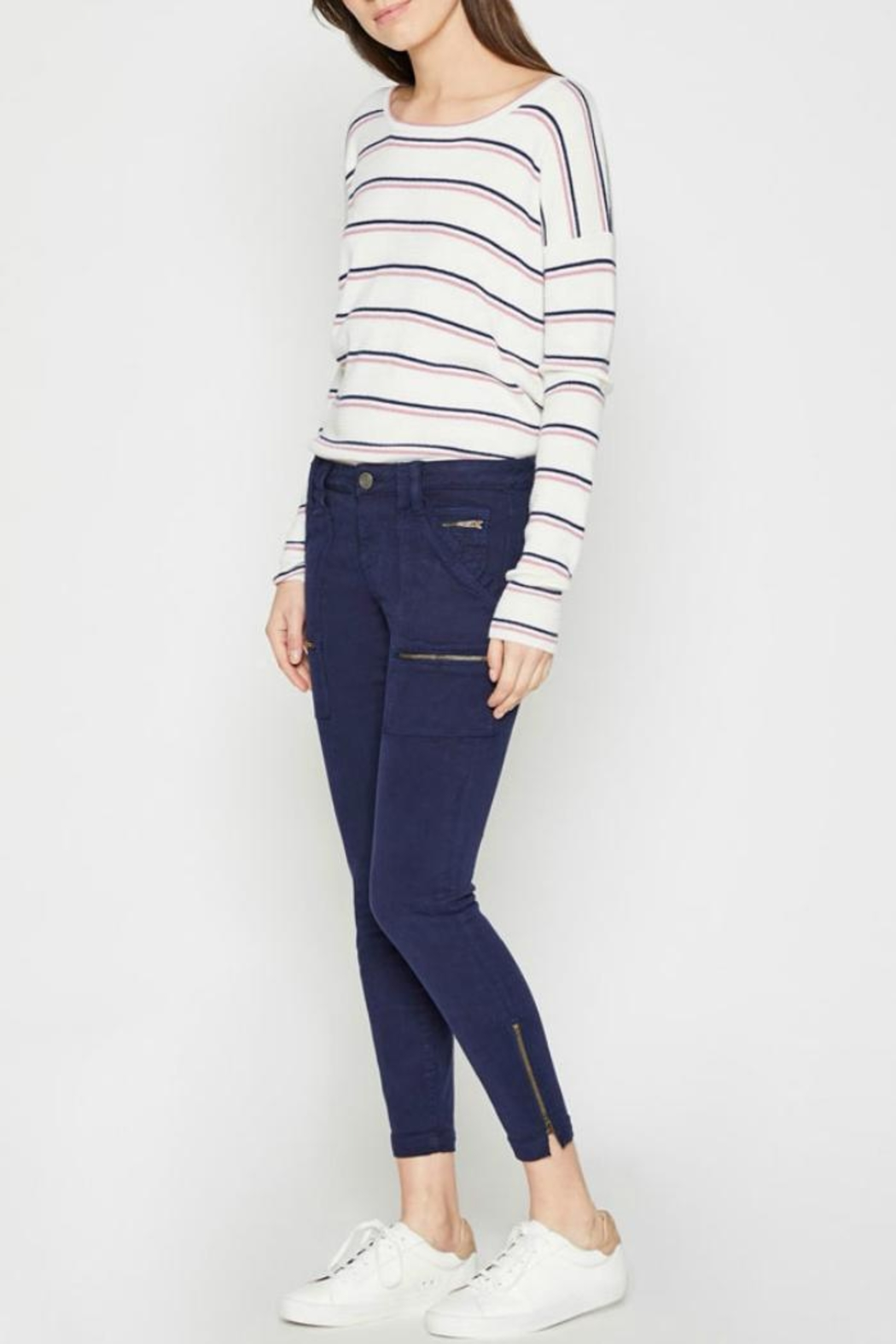 Joie Park Skinny Navy - Side Cropped Image